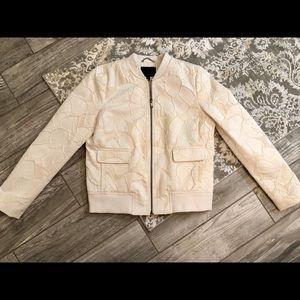 Banana Republic jacquard bomber jacket